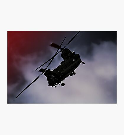 Chinook - Night Flight ! Photographic Print