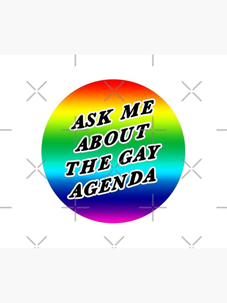 ask me about the gay agenda | lgbtqia+ queer rainbow by craftordiy