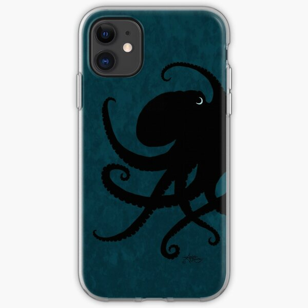 Octopus Silhouette, by Amber Marine © 2015 iPhone Soft Case