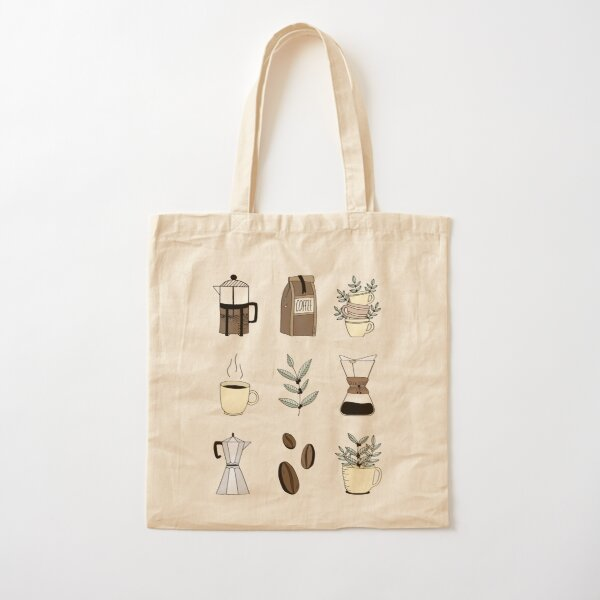 Coffee Time Cotton Tote Bag