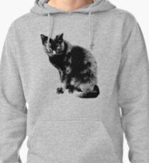 Black Cat. Halloween Black Cat.  Pullover Hoodie