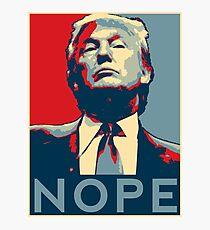 """Lámina fotográfica Donald Trump """"NOPE"""""""