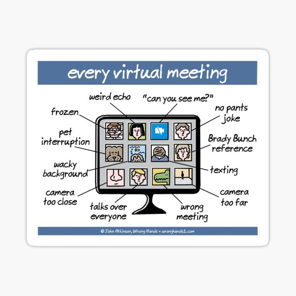 every virtual meeting Sticker