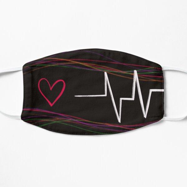 Life of a Heart Beat Flat Mask