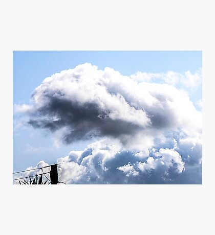 CLOUDS OVER THE PDC 1 Photographic Print
