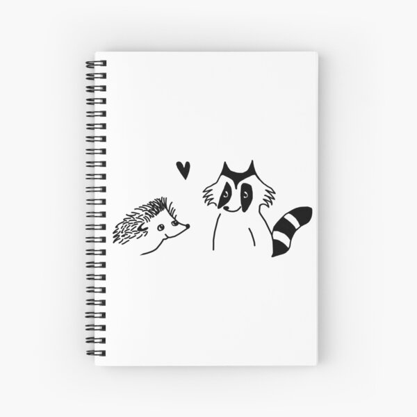 hedgehog and raccoon drawing  Spiral Notebook