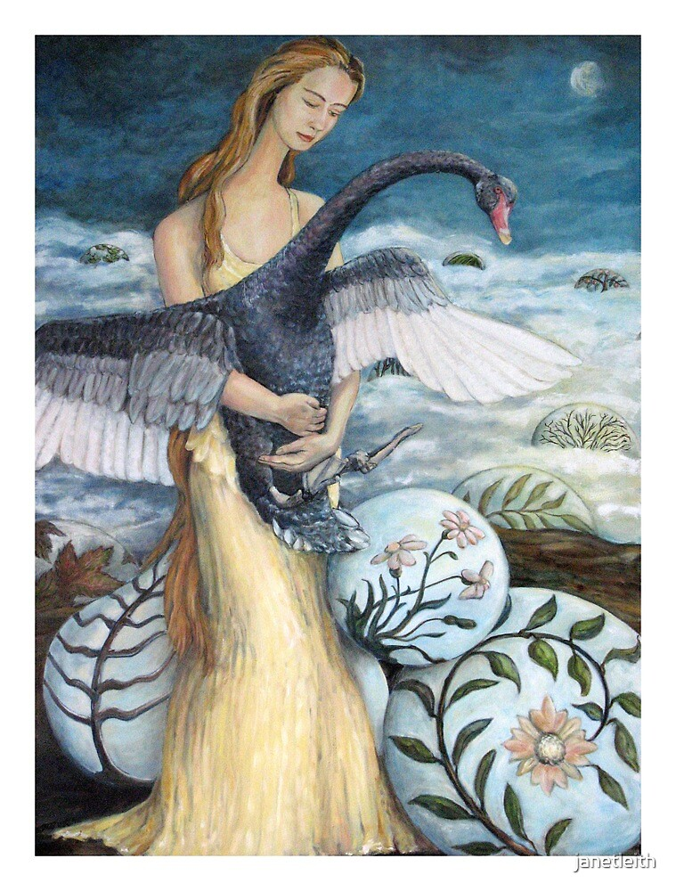 The Lady & the Swan, 2012 by janetleith