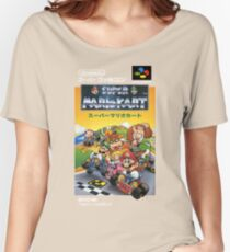 Super Mario Kart Nintendo Super Famicom Japanese Box Art Shirt (SNES) Women's Relaxed Fit T-Shirt
