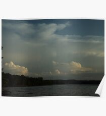 Cloudy at the Lake Poster