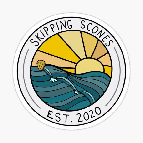 Skipping Scones Bakery Logo  Sticker