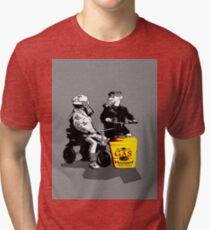 mustard.. Tri-blend T-Shirt