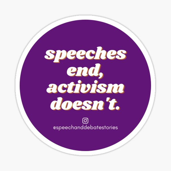 Speeches End, Activism Doesn't Sticker