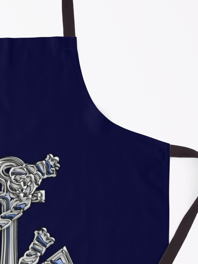 Alternate view of Chrome Style Nautical Rope Anchor Applique Apron