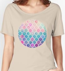 Rainbow Pastel Watercolor Moroccan Pattern Women's Relaxed Fit T-Shirt