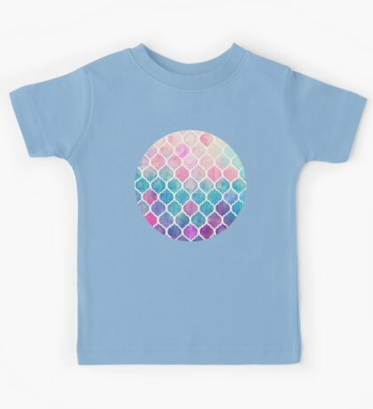 Rainbow Pastel Watercolor Moroccan Pattern Kids Clothes