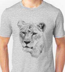 Lioness. Female Lion. Digital Wildlife Engraving Image T-Shirt