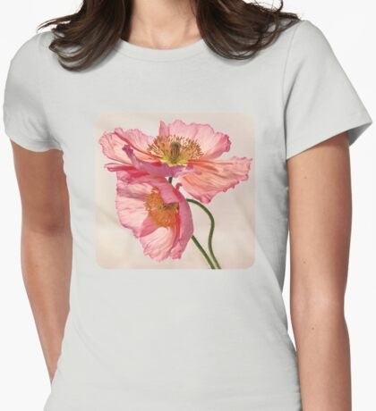 Like Light through Silk Womens Fitted T-Shirt