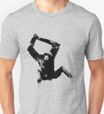 Siamang Gibbon. Wildlife Digital Engraving Image Unisex T-Shirt