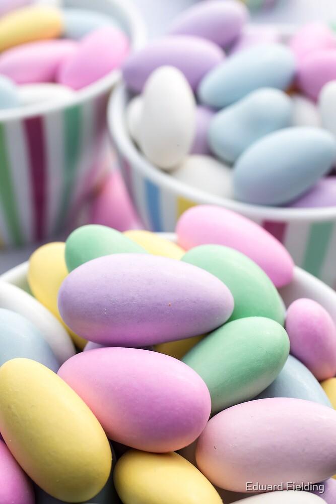 Colorful Jordan Almond Candy Buffet by Edward Fielding