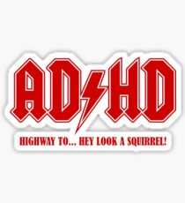 ADHD Highway to Hey! Sticker