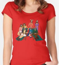 Two And A Half Men - Skull cast Women's Fitted Scoop T-Shirt