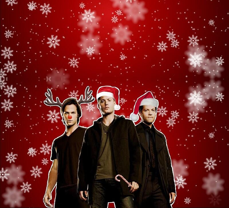 """A Supernatural Christmas"" Greeting Cards By Keeplookingup"