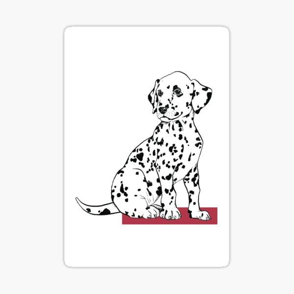 Dalmatian puppy Sticker