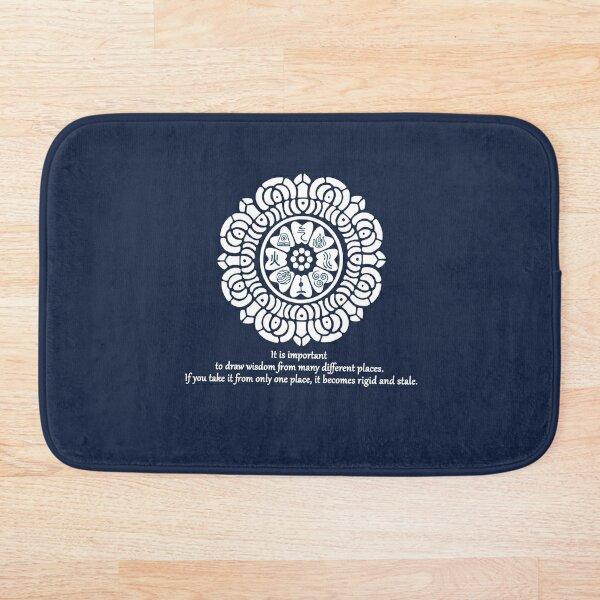 Wisdom of the White Lotus Bath Mat