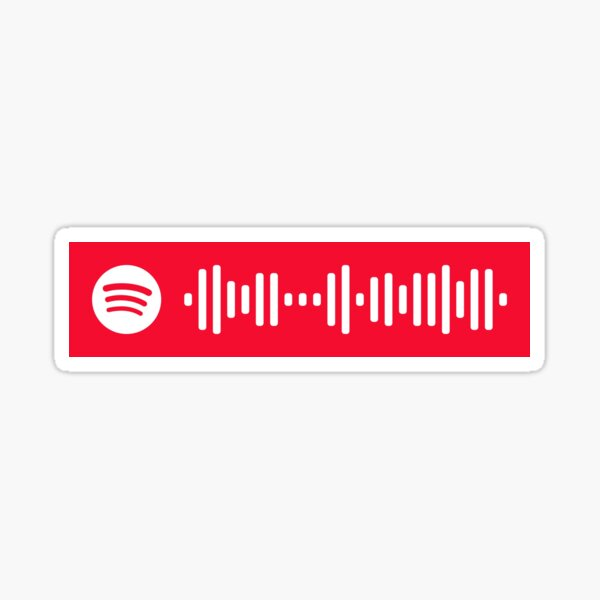 Michael in the Bathroom Spotify Code Sticker