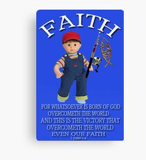 <º))))>< FAITH BIBLICAL CHILDS PICTURE AND OR CARD<º))))><      Canvas Print