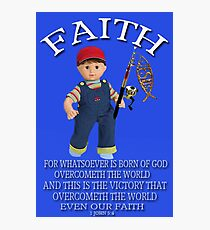 <º))))>< FAITH BIBLICAL CHILDS PICTURE AND OR CARD<º))))><      Photographic Print