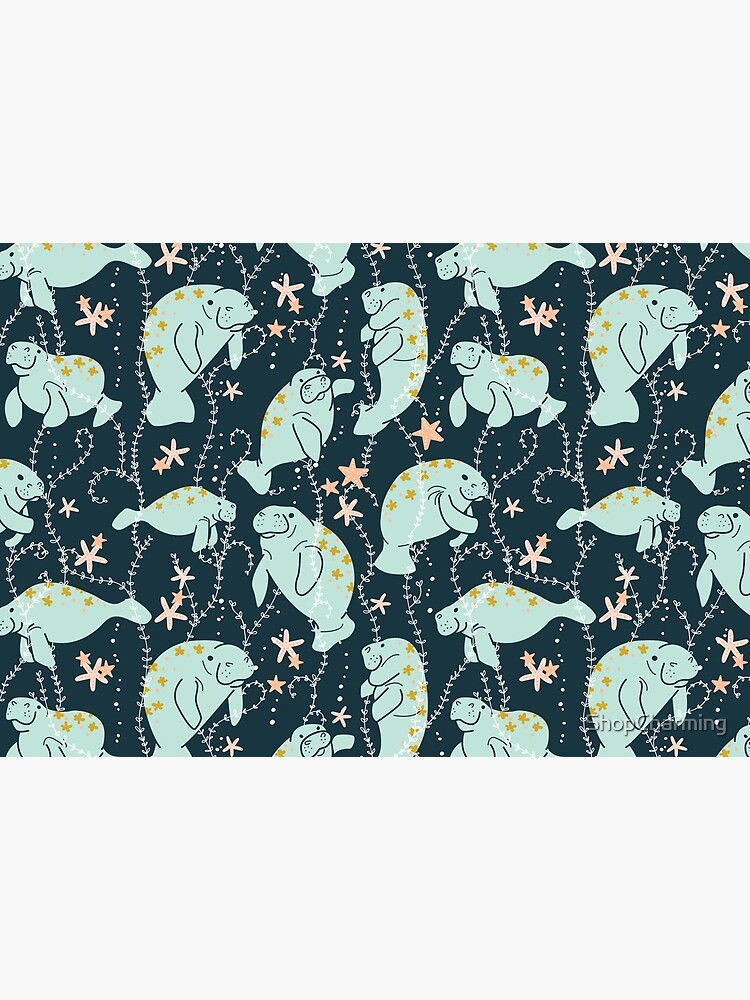 Oh the Hue-Manatee: Teal by ShopCharming
