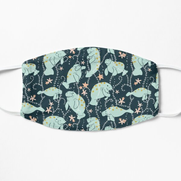Oh the Hue-Manatee: Teal Flat Mask