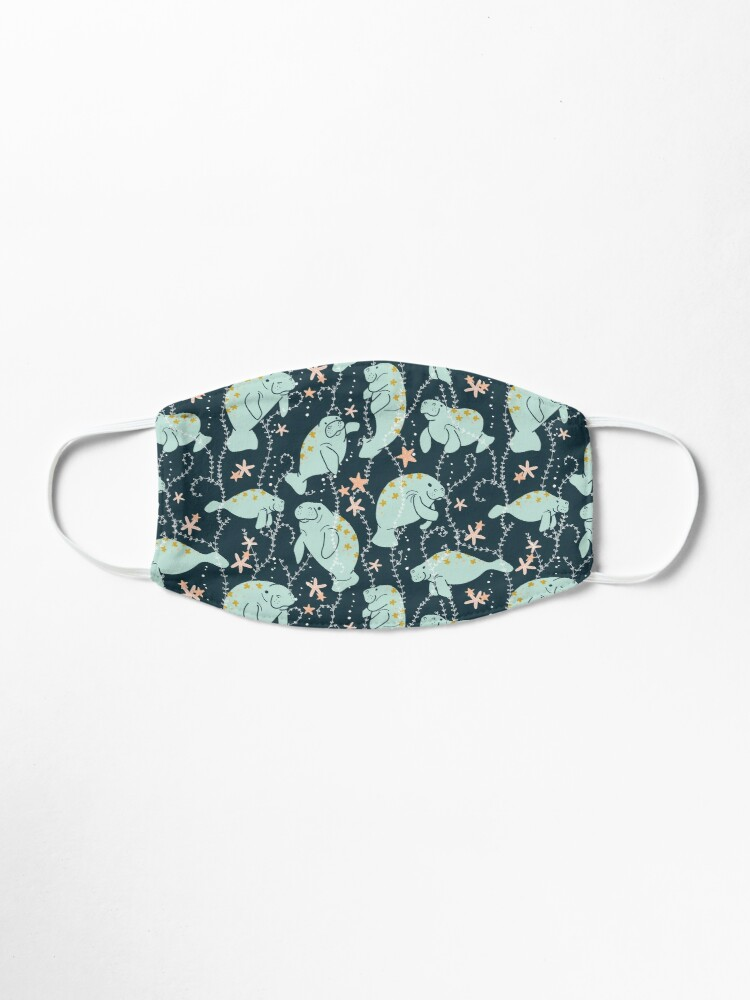 Alternate view of  Oh the Hue-Manatee: Teal Mask