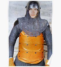 Medieval Soldier in Armour Poster