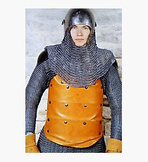 Medieval Soldier in Armour Photographic Print
