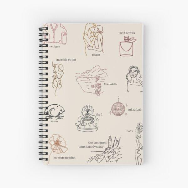 Collection d'albums folkloriques Taylor Swift (dessin au trait) Cahier à spirale