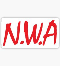 N.W.A coming straight out of Compton  Sticker