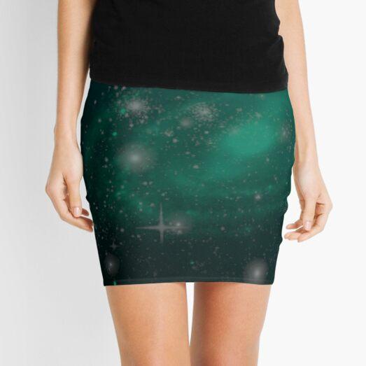 Teal Galaxy Gradient Mini Skirt
