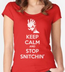 Keep Calm and Stop Snitchin' Women's Fitted Scoop T-Shirt
