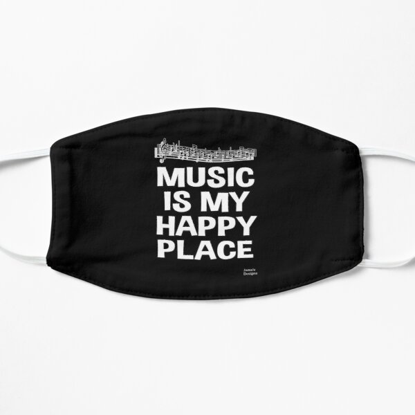 Music Is My Happy Place - Jame's Designs Mask