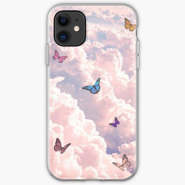 Cloudy Butterfly  iPhone Soft Case