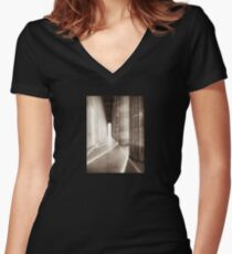 walhalla colonnade Women's Fitted V-Neck T-Shirt