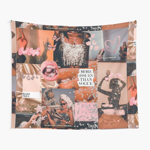 Bad Bitch Collage Tapestry