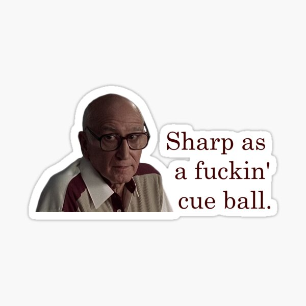 Uncle Junior Cue Ball Sticker