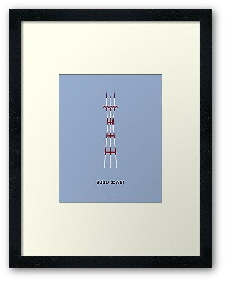 Sutro Tower Print by Peter Fedewa