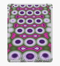 Cool retro Bubbles and Dots fractal art case iPad Case/Skin