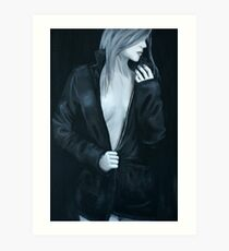 Lady in Leather Art Print