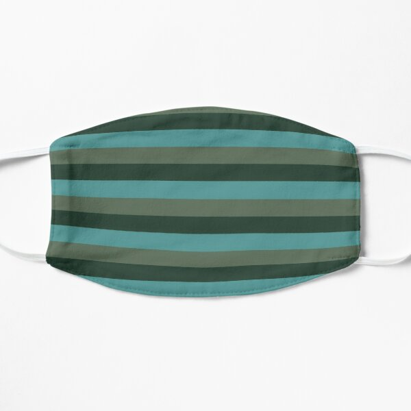 Green monochromatic color block stripe pattern Mask
