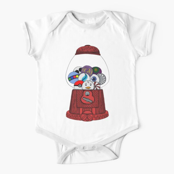 Gumball Machine Short Sleeve Baby One-Piece